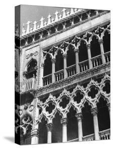 Detail of Building Facade in Venice, Italy by Thomas D. Mcavoy