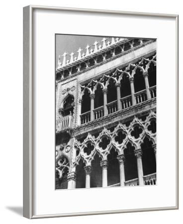 Detail of Building Facade in Venice, Italy