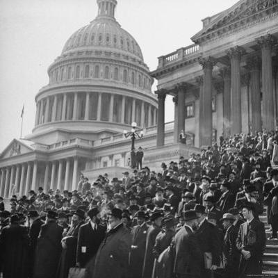 Jewish Rabbis March on Washington, on the Senate Steps by Thomas D. Mcavoy