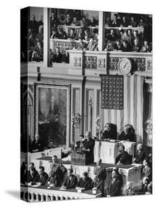 President Franklin D. Roosevelt at State of the Union Address, What It Would Take to Win the War by Thomas D. Mcavoy