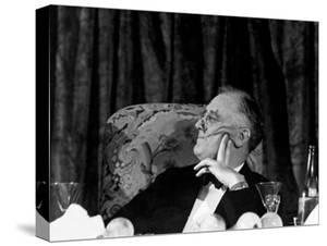President Franklin D. Roosevelt Listening to Speeches During the Jackson Day Dinner by Thomas D. Mcavoy