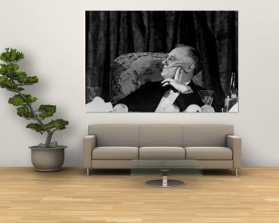 President Franklin D. Roosevelt Listening to Speeches During the Jackson Day Dinner