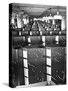 Room Containing the Visible Index Files at the Social Security Board by Thomas D. Mcavoy