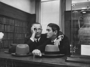 Sen. Lyndon B. Johnson Talking with Lawyer John B. Connally at Opening of the Sam Rayburn Library by Thomas D. Mcavoy
