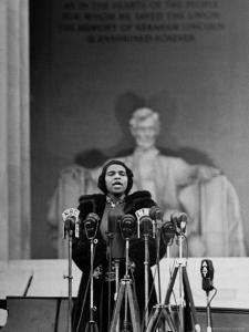 Singer Marian Anderson Giving an Easter Concert at the Lincoln Memorial by Thomas D. Mcavoy
