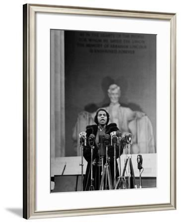 Singer Marian Anderson Giving an Easter Concert at the Lincoln Memorial