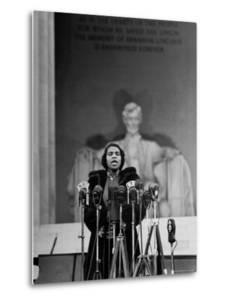 Singer Marian Anderson Giving an Easter Concert at the Lincoln Memorial by Thomas D^ Mcavoy