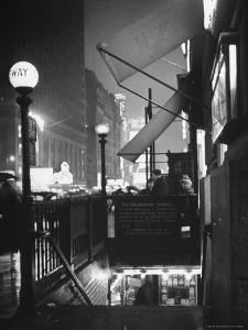 Subway Entrance in Times Square Neighborhood by Thomas D. Mcavoy