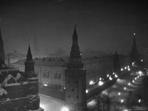 The Kremlin at Night by Thomas D. Mcavoy