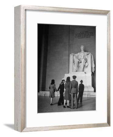Tourists Visiting Lincoln Memorial