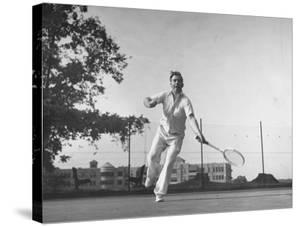 Vice Presidential Candidate Henry A. Wallace, Playing a Game of Tennis by Thomas D. Mcavoy