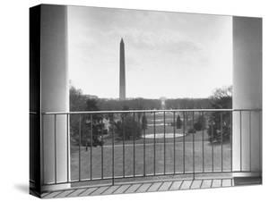 View from Balcony of the White House by Thomas D. Mcavoy