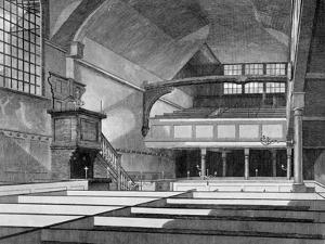 Interior View of the Church of St Bartholomew-The-Great, Smithfield, City of London, 1822 by Thomas Dale