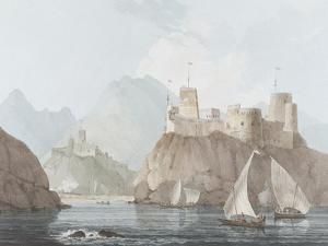 East View of the Forts Jellali and Merani, Muskah, Arabia, June 1793 by Thomas Daniell