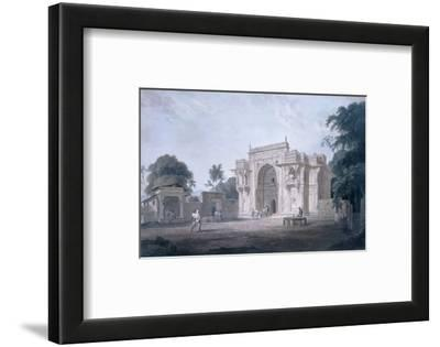 Gate Leading to a Mosque, Chunargarh, Uttar Pradesh (Coloured Aquatint)