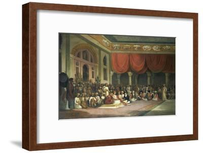 Sir Charles Warre Malet,British Resident at Court of Poona, in 1790 Concluding a Treaty in Durbar
