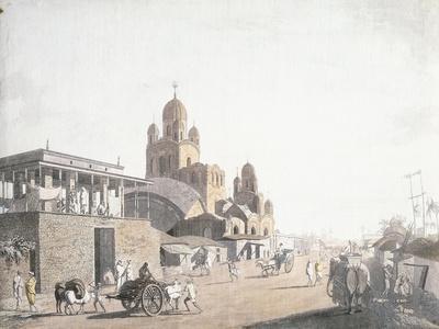 Street Scene, from 'Views in Calcutta', 1786-1788