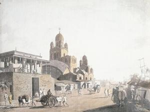 Street Scene, from 'Views in Calcutta', 1786-1788 by Thomas Daniell