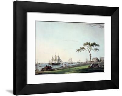 """View Taken on the Esplanade, Calcutta, Plate I from """"Oriental Scenery"""", Published 1797"""