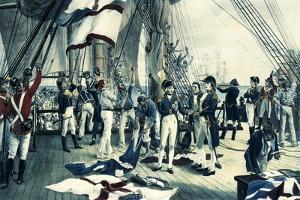 Nelson's Last Signal at Trafalgar, 1805 by Thomas Davidson