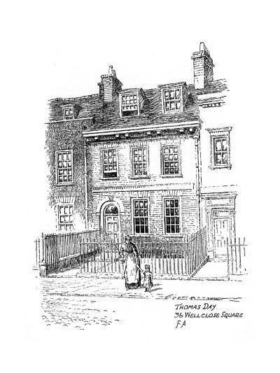 Thomas Day's House, 36 Wellclose Square, Whitechapel, London, 1912-Frederick Adcock-Giclee Print