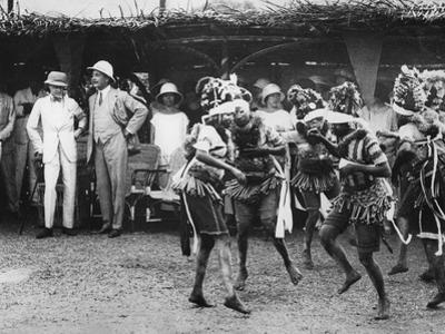 Girls from the Bundu Tribe Dancing before the Prince, Freetown, Sierra Leone, 1925