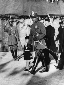 Shah Pahlavi of Persia with His Son the Crown Prince, April, 1926 by Thomas E. & Horace Grant
