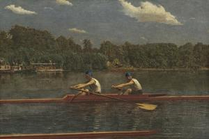 The Biglin Brothers Racing, 1872 by Thomas Eakins