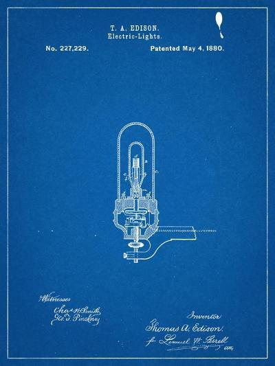 Thomas Edison Light Bulb Patent--Art Print