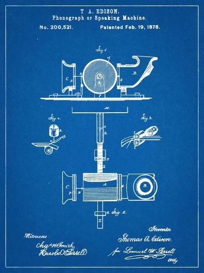 Thomas Edison Speaking Telegraph Patent--Art Print