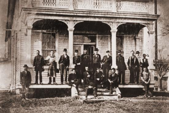 Thomas Edison with Engineers and Technicians of His Menlo Mark Workshop, 1880s--Photo