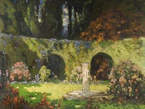 In an Old-World Garden by Thomas Edwin Mostyn
