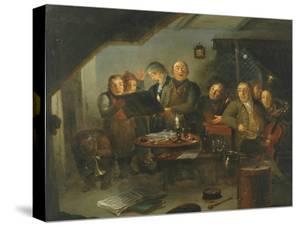 The Halifax Church Choir practicing at the Ring O' Bells Inn, 1796 by Thomas Farrar