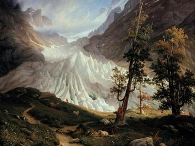 The Lower Grindelwald Glacier by Thomas Fearnley