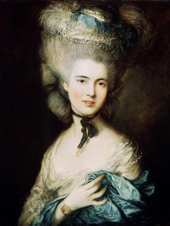 A Lady in Blue (Duchess of Beaufor), C1780