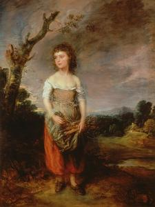 A Peasant Girl Gathering Faggots in a Wood, 1782 by Thomas Gainsborough