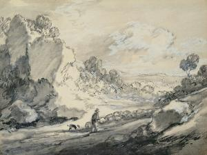 A Shepherd and His Flock, 1775 by Thomas Gainsborough