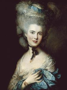 A Woman in Blue (Portrait of the Duchess of Beaufort) by Thomas Gainsborough