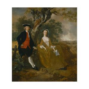 An Unknown Couple in a Landscape by Thomas Gainsborough