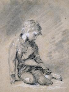 Beggar Boy, About 1780 (Black Chalk and Stump, Heightened with White, on Pale Buff Paper) by Thomas Gainsborough