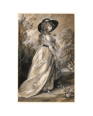 Chalk study of a Lady