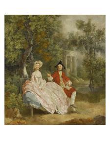 Conversation dans un parc (probablement Gainsborough et sa femme) by Thomas Gainsborough