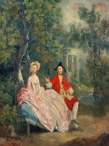 Conversation in a Park, Portrait of the Artist and His Wife, Margaret Burr, 1746 by Thomas Gainsborough