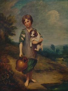 'Cottage Girl with Dog and Pitcher', 1785, (1935) by Thomas Gainsborough