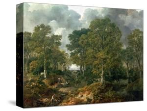 """Gainsborough's Forest (""""Cornard Wood""""), circa 1748 by Thomas Gainsborough"""