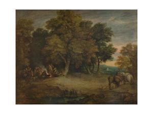 'Gipsy Encampment: Sunset', c1758, (1935) by Thomas Gainsborough