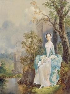 Girl with a Book Seated in a Park, C.1750 by Thomas Gainsborough
