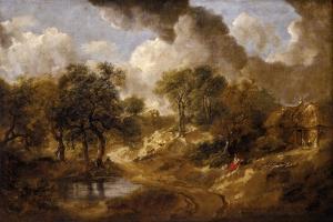 Landscape in Suffolk, Ca 1748 by Thomas Gainsborough