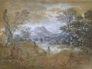 Landscape with a Road at the Edge of a Wood by Thomas Gainsborough
