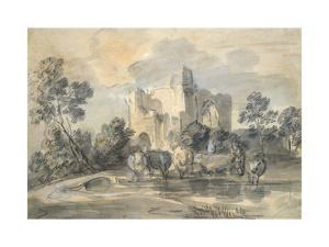 Landscape with a Ruined Castle by Thomas Gainsborough